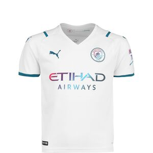 Manchester City Trikot Away 2021/2022 Kinder, weiß / petrol, zoom bei OUTFITTER Online