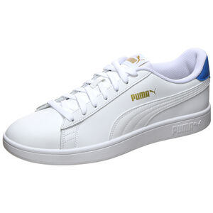 Smash v2 Leather Sneaker, weiß / blau, zoom bei OUTFITTER Online