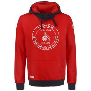 1. FC Köln Sportswear Kapuzenpullover Herren, rot / schwarz, zoom bei OUTFITTER Online