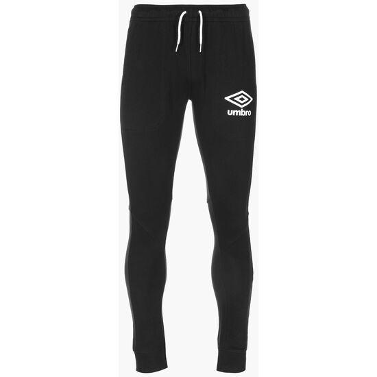 Slim Fit Jogger Trainingshose Herren, schwarz / weiß, zoom bei OUTFITTER Online