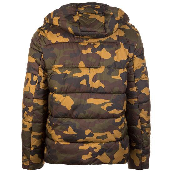 Hooded Camo Puffer Winterjacke Herren, oliv / hellbraun, zoom bei OUTFITTER Online