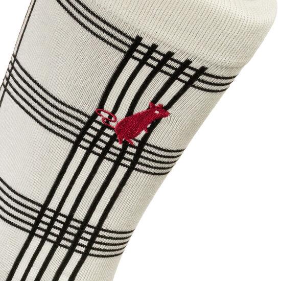 Rat Plaid Socken, weiß / rot, zoom bei OUTFITTER Online