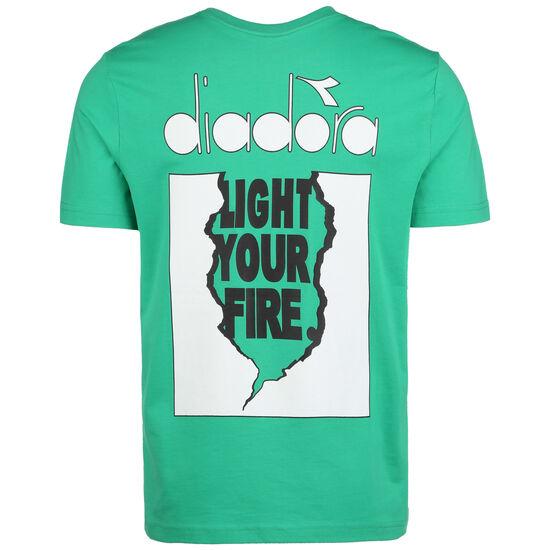 Light Your Fire T-Shirt Herren, grün / weiß, zoom bei OUTFITTER Online