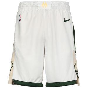 NBA Milwaukee Bucks Icon Edition Swingman Short Herren, weiß / grün, zoom bei OUTFITTER Online