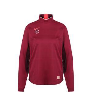 F.C. Dry Langarm Fußballtrikot Damen, rot / rosa, zoom bei OUTFITTER Online
