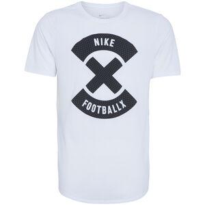 Football X Logo T-Shirt Herren, weiß / schwarz, zoom bei OUTFITTER Online