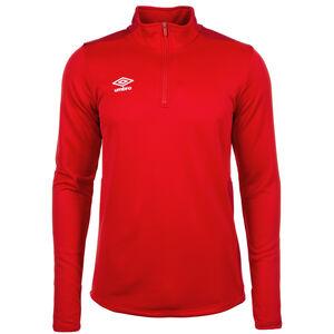 Half-Zip Trainingsshirt Herren, rot / dunkelrot, zoom bei OUTFITTER Online