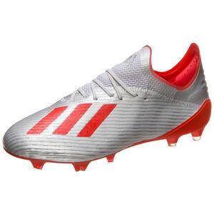 X 19.1 FG Fußballschuh Herren, silber / rot, zoom bei OUTFITTER Online