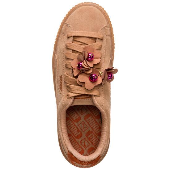 Suede Platform Flower Tassel Sneaker Damen, beige / braun, zoom bei OUTFITTER Online