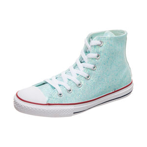 Chuck Taylor All Star Sparkle High Sneaker Kinder, hellblau / rot, zoom bei OUTFITTER Online