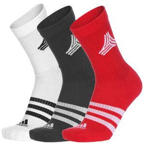 Football Street 3-Stripes Socken Herren, weiß / rot, zoom bei OUTFITTER Online