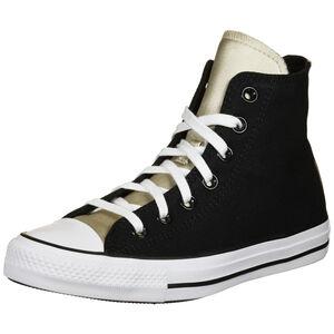 Chuck Taylor All Star Mono Metal High Sneaker Damen, schwarz / gold, zoom bei OUTFITTER Online