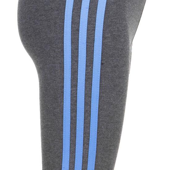Essentials 3 Stripes Trainingstight Kinder, dunkelgrau / blau, zoom bei OUTFITTER Online