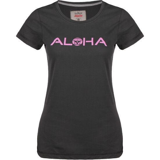 Aloha VW Bulli T-Shirt Damen, schwarz, zoom bei OUTFITTER Online