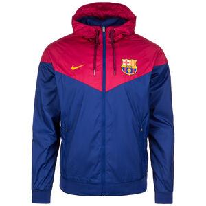 FC Barcelona Windrunner Kapuzenjacke Herren, blau / rot, zoom bei OUTFITTER Online