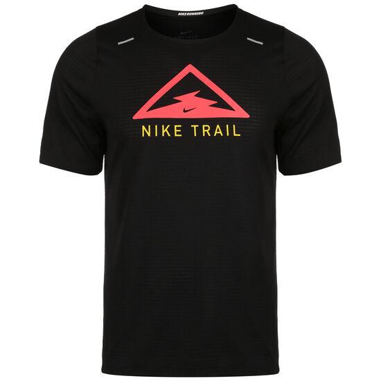 Rise 365 Trail Laufshirt Herren, schwarz / neonrot, zoom bei OUTFITTER Online