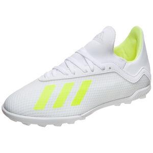 X 18.3 TF Fußballschuh Kinder, weiß / neongelb, zoom bei OUTFITTER Online