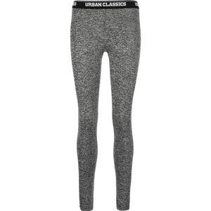 Active Melange Logo Leggings Damen, grau / weiß, zoom bei OUTFITTER Online