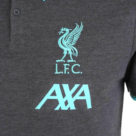FC Liverpool Base Poloshirt Herren, dunkelgrau / türkis, zoom bei OUTFITTER Online