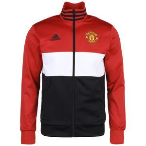 Manchester United 3-Streifen Trainingsjacke Herren, rot / schwarz, zoom bei OUTFITTER Online