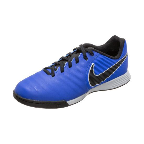 Tiempo LegendX VII Academy Indoor Fußballschuh Kinder, blau / schwarz, zoom bei OUTFITTER Online