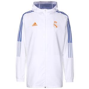 Real Madrid Präsentationsjacke Herren, weiß / blau, zoom bei OUTFITTER Online