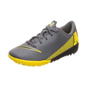 Mercurial Vapor XII Academy TF Fußballschuh Kinder, dunkelgrau / gelb, zoom bei OUTFITTER Online