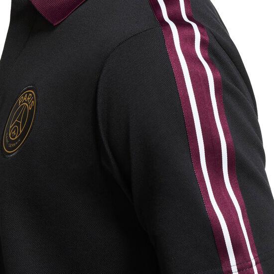 Paris St.-Germain Taped Poloshirt Herren, schwarz / bordeaux, zoom bei OUTFITTER Online