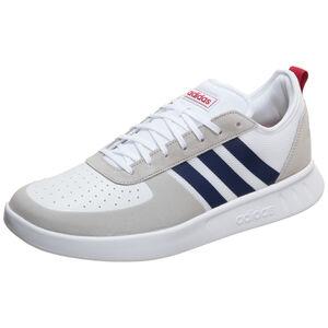 Court 80S Sneaker Herren, weiß / dunkelblau, zoom bei OUTFITTER Online