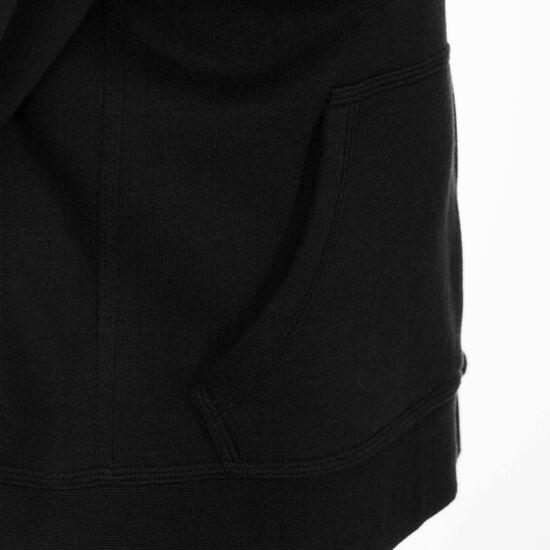 YA76 Brushed Fleece Trainingskapuzenpullover Kinder, schwarz, zoom bei OUTFITTER Online
