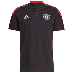 Manchester United Poloshirt Herren, schwarz / rot, zoom bei OUTFITTER Online