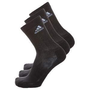 3 Stripes Performance Crew Socken 3er Pack, Schwarz, zoom bei OUTFITTER Online
