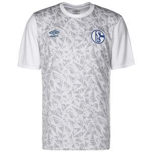 FC Schalke 04 Warm Up Trainingsshirt Herren, weiß / blau, zoom bei OUTFITTER Online