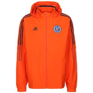 New York City FC All-Weather Jacke Herren, orange / schwarz, zoom bei OUTFITTER Online