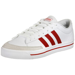 Retro Vulc Trainer Sneaker Herren, weiß / rot, zoom bei OUTFITTER Online