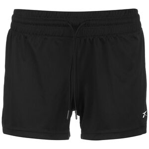 Workout Ready Knit Poly Trainingsshorts Damen, schwarz / weiß, zoom bei OUTFITTER Online