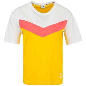 XTG Colorblock T-Shirt Damen, gelb / weiß, zoom bei OUTFITTER Online