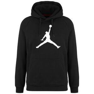 Jordan Jumpman Logo Fleece Kapuzenpullover Herren, schwarz / weiß, zoom bei OUTFITTER Online