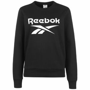 Identity Logo Fleece Crew Sweatshirt Damen, schwarz / weiß, zoom bei OUTFITTER Online