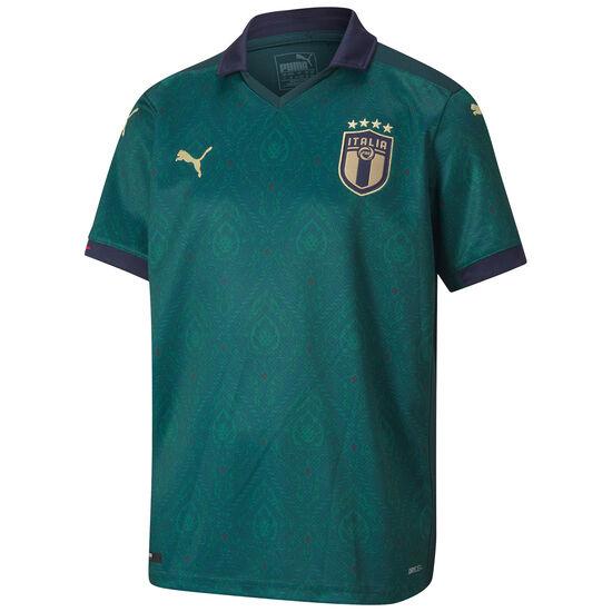 FIGC Italien Trikot 3rd EM 2020 Kinder, dunkelgrün / blau, zoom bei OUTFITTER Online