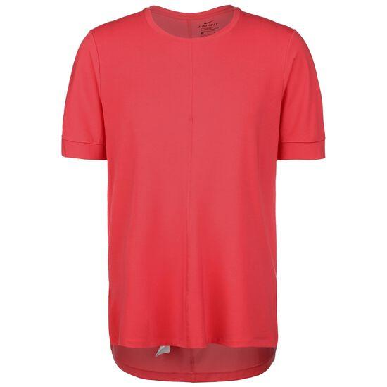 Dri-FIT Yoga Trainingsshirt Herren, rot / schwarz, zoom bei OUTFITTER Online