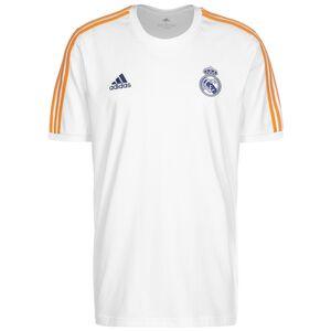 Real Madrid 3-Streifen T-Shirt Herren, weiß / dunkelgelb, zoom bei OUTFITTER Online