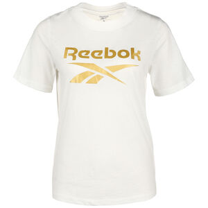 Identity Logo T-Shirt Damen, weiß / gold, zoom bei OUTFITTER Online