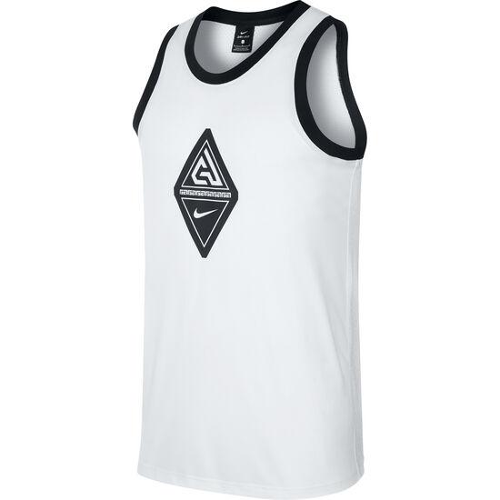 Giannis Basketball-Tanktop Herren, weiß / schwarz, zoom bei OUTFITTER Online