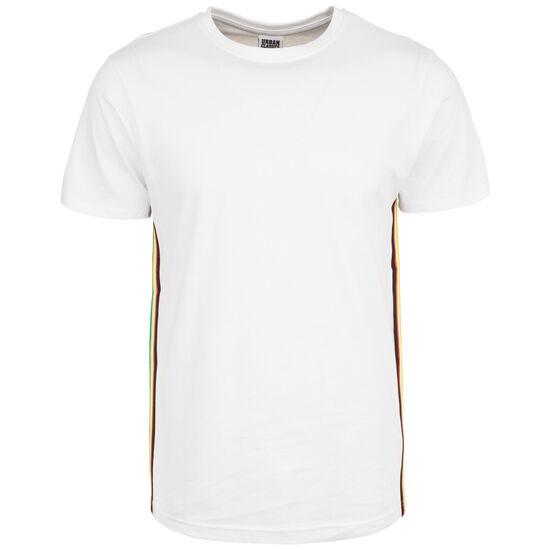 Side Taped T-Shirt Herren, weiß / bunt, zoom bei OUTFITTER Online