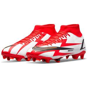 Mercurial Superfly 8 Academy CR7 DF MG Fußballschuh Herren, rot / weiß, zoom bei OUTFITTER Online