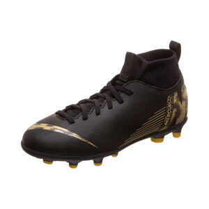 Mercurial Superfly VI Club MG Fußballschuh Kinder, schwarz / gold, zoom bei OUTFITTER Online
