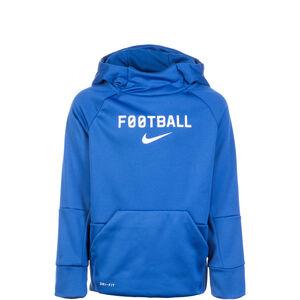 Therma Football Kapuzenpullover Kinder, blau / weiß, zoom bei OUTFITTER Online