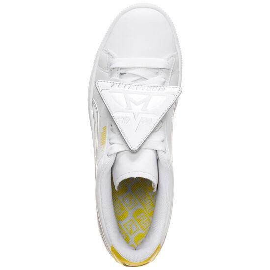 Basket Badge Trailblazer Metallic Sneaker Damen, weiß / gelb, zoom bei OUTFITTER Online