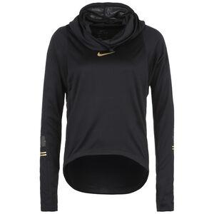 Glam Midlayer Laufsweat Damen, schwarz / gold, zoom bei OUTFITTER Online